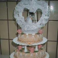 hohe Hochzeitstorte 3