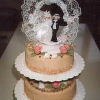 hohe Hochzeitstorte 4