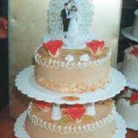 hohe Hochzeitstorte 5
