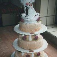 hohe Hochzeitstorte 6