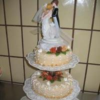 hohe Hochzeitstorte 7